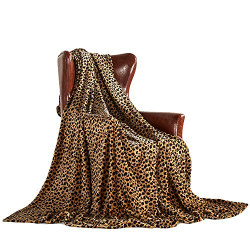 MERRYLIFE Decorative Throw Blanket Ultra-Plush Comfort | Soft, Colorful, Oversized | Home, Couch, Outdoor, Travel Use | Large Size (90 102, Cheetah)