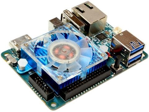 ODROID XU4 with active cooler and power supply