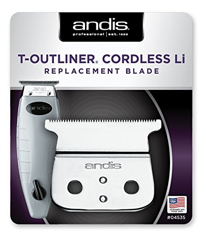 Andis Professional T-Outliner Cordless T-Blade Trimmer with Extra Replacement Blade and BeauWis Blade Brush