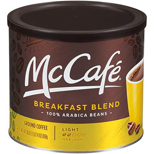 Coffee Breakfast Set - McCafe Breakfast Blend Ground Coffee (30 oz Canister)