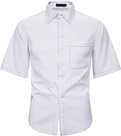 ZHNELYJ Camisa de Verano para Hombre, Camisa Holgada, Mangas ...