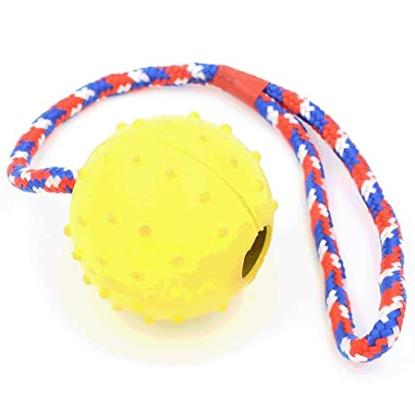 Lanzador de pelotas de goma para perro con cuerda de entrenamiento ...