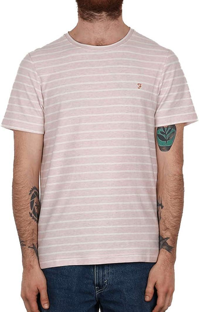 Farah Salford SS Crew T-Shirt Rose Marl