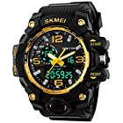 Gosasa Big Dial Digital Watch S SHOCK Men Military Army Watch Water Resistant LED Sports Watches Yellow