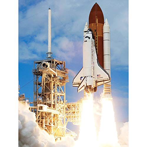 Space NASA Shuttle Discovery Rocket Launch Photo Premium Wall Art Canvas Print 18X24 Inch ()