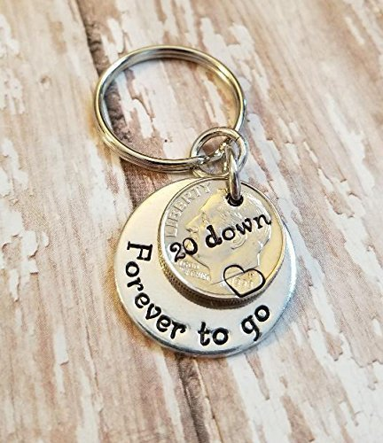 amazon com two 1998 dimes for 20 down forever to go key chain 20th