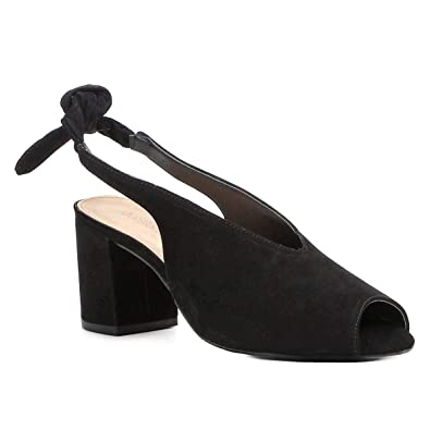 ebebae9106 Sandália Couro Shoestock Salto Bloco High Vamp Feminina - Preto - 36 ...
