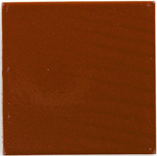 Box of 90 - 4¼ x 4¼ Terra Cotta Over White - Talavera Mexican Ceramic Tile Mexican Terra Cotta