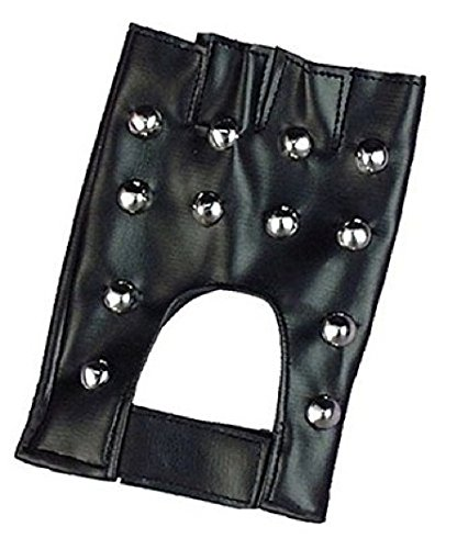 Forum Novelties Men's Studded Costume Gloves, Black, One