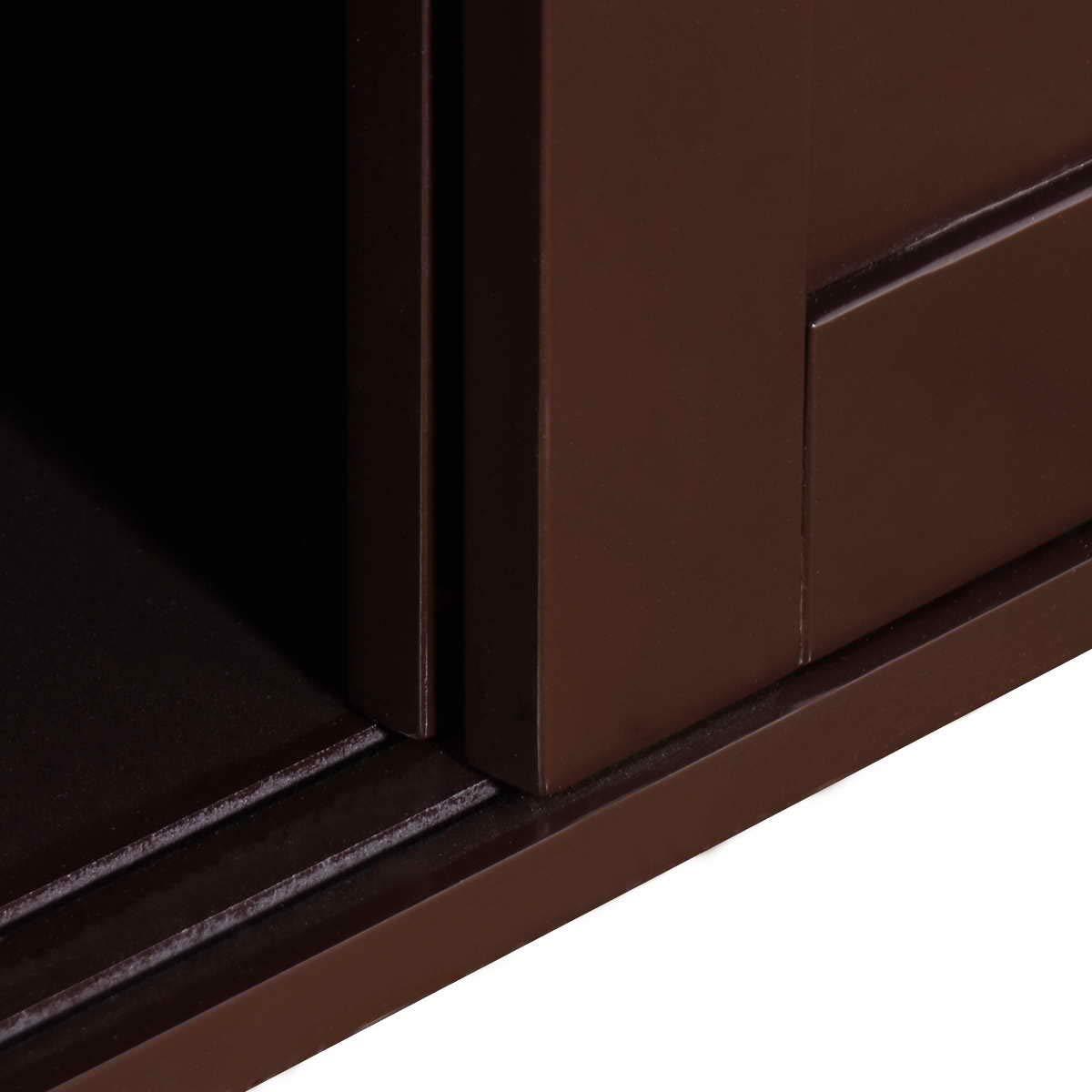 WATERJOY Kitchen Storage Sideboard, Stackable Buffet Storage Cabinet with Sliding Door Panels for Home Kitchen, Antique Brown by WATERJOY (Image #2)