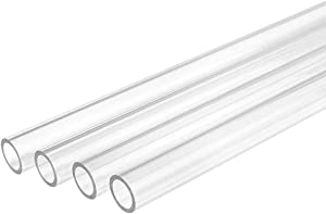 Bykski 12mm ID x 16mm OD Rigid Acrylic Tube - 4X 750mm - Clear