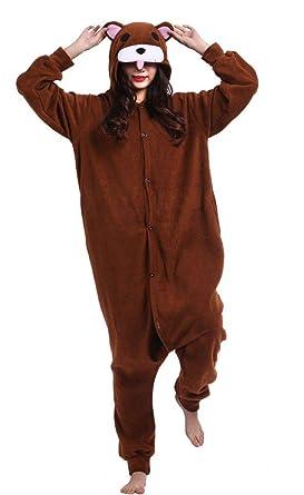 top fashion many styles cozy fresh Kigurumi Onesie Pyjama Combinaison Animal Adulte Unisexe Cosplay Halloween  Costume Ours Brun