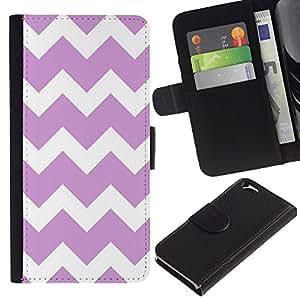 EJOY---La carpeta del tirón la caja de cuero de alta calidad de la PU Caso protector / Apple Iphone 6 / --Púrpura Modelo blanco minimalista con estilo