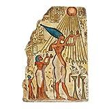 Pharaoh Akhenaten Offering to Aten the Sun Wall