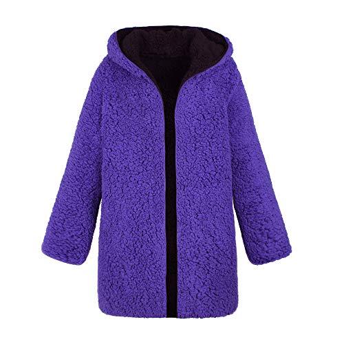 Donna pelliccia Cappotto da in Donna in sintetica per lana Cappotto donna Cappotto calda Cappotti dicroica invernale Cappuccio qfZFwgdqr