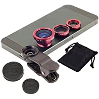 Captcha® 3 in 1 Universally Compatible with Any Smart Phone Camera Lens(Macro+Fish Eye+Wide Angle Lens)