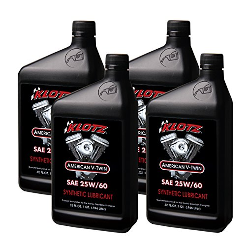 Klotz V-Twin Synthetic Motorcycle Oil - 25w/60, 32oz - (4) Quarts/1 ()
