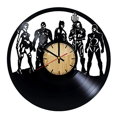 ForLovedGifts Justice League Design Vinyl Wall Clock – Handmade Gift for Any Occasion – Unique Birthday, Wedding, Anniversary, Wall décor Ideas for Any Space ()