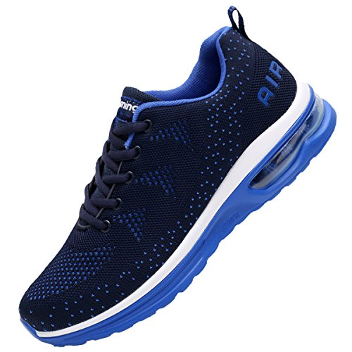 JARLIF Men's Lightweight Athletic Running Shoes Breathable Sport Air Fitness Gym Jogging Sneakers US6.5-12 (11 D(M) US, Blue)
