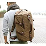 Canvas Cylindrical Outdoor Mountaineering Backpack Bag