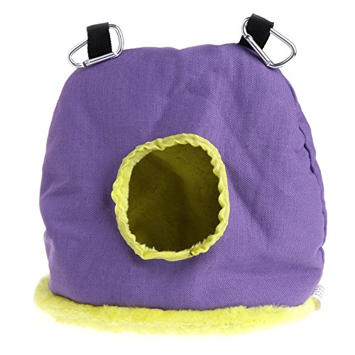 Poity New Parrot Nest Plush Warm Winter Hammock Pet Bird Hanging Swing Bed Cave Color Random L by Poity