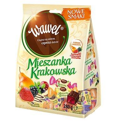 (Wawel Mieszanka Krakowska New Flavors Chocolate Coated Jelly Sweets 280g)
