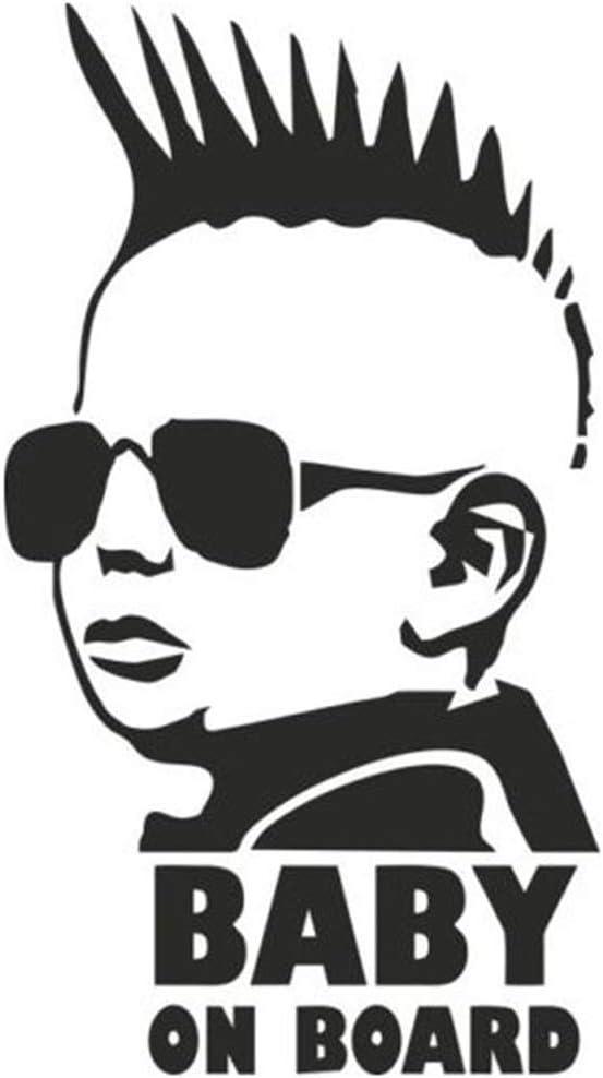 YU Etiqueta del Coche Etiqueta Personalizada del Cuerpo BEB/É A Bordo Gafas de Sol Etiqueta de Advertencia del beb/é