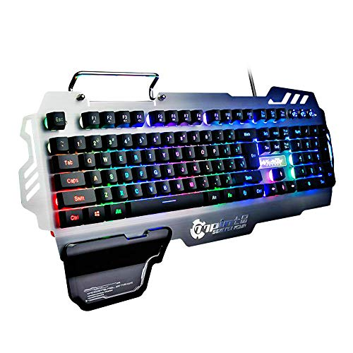 New Fashion Brand PK-900 Colorful Backlight Gaming Keyboard 104 Keys Waterproof ABS Material Keyboard for PC ()