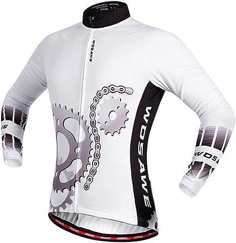 Bicicleta Jersey Camisa de Manga Larga al Aire Libre de Secado rápido, Transpirable, Bicicleta de Carretera, Traje de Montar, Ropa for Correr Jersey de Bicicleta LPLHJD: Amazon.es: Deportes y aire libre