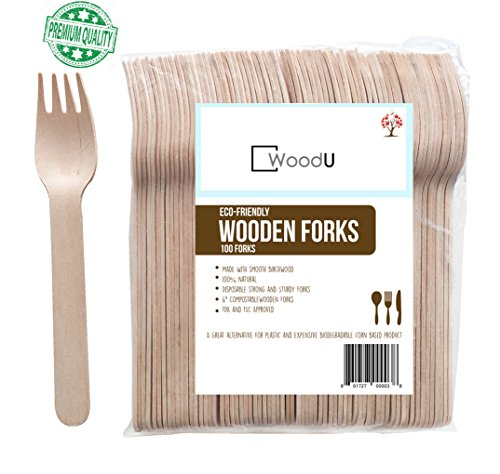 Party Forks - Disposable Wooden Forks, 6