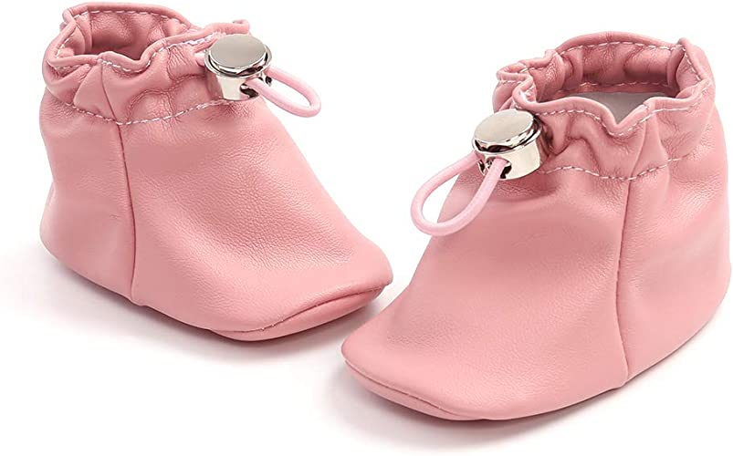 AmbabeOnline Baby Girl Boy Leather Shoes Lace Up Soft Booties Newborn Infant Toddler First Walker Outdoor Fall Shoes