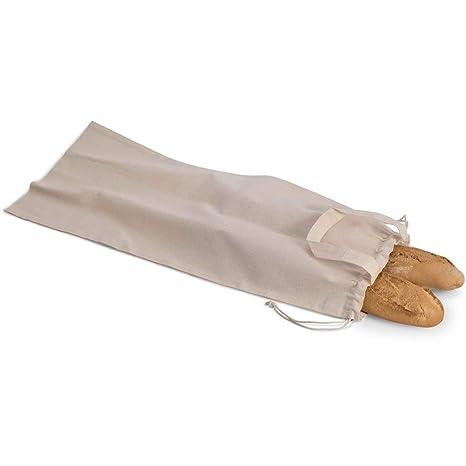 notrash2003 - Bolsa para el Pan de algodón orgánico, con Asas y Cierre de cordón, 1 Unidad