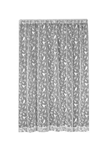 Heritage Lace Bristol Garden Panel, 60 by 63-Inch, White