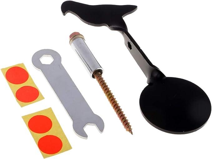 Pratique de Chasse SM SunniMix Set de 6 Cibles de Tir en Acier Inoxydable pour lEntra/înement au Tir