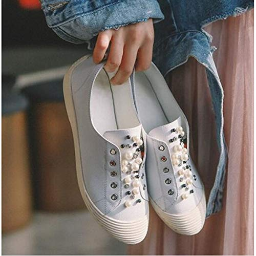 ZHZNVX pie Comfort Flat Nappa Dedo del Heel Negro Summer Spring Zapatos Blanco Mujer Black Sneakers Leather Cerrado de del rnq1ZrHWwF