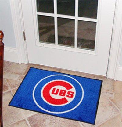 FANMATs MLB Chicago Cubs Baseball Starter Mat (Chicago Cubs Mlb Floor Mats)