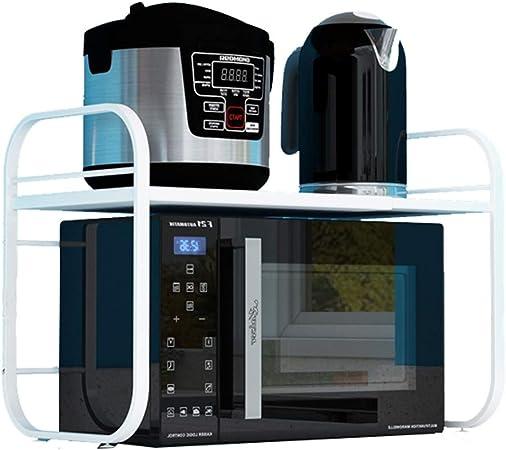 Soporte Universal para Microondas, Estante De Cocina RetráCtil Mesa De Trabajo De Almacenamiento De Utensilios De Cocina, para Horno De Microondas/ Horno/Olla Arrocera: Amazon.es: Hogar