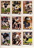 Chicago Bears 1991 Upper Deck Football Master Team Set with High Numbers***Premier Issue*** Chris Zorich Rookie, Jim Harbaugh, Brad Muster, Neal Anderson, Ron Rivera, Mike Singletary, and More