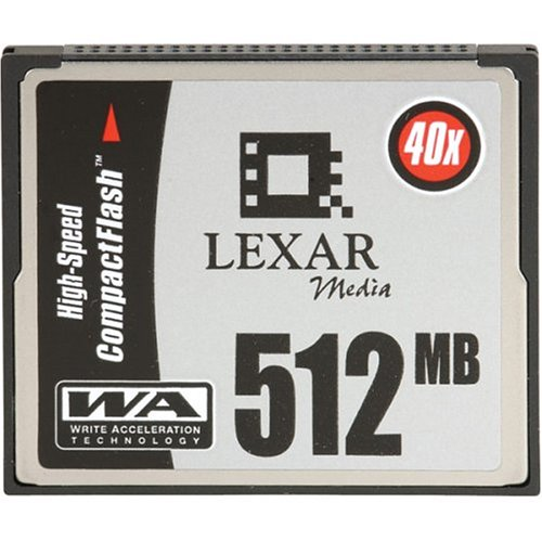Digital Film Compactflash Card - Lexar Media 512 MB CompactFlash HSS (40X) CF512-40-278