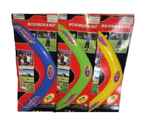 KIDS LIGHT WEIGHT PLASTIC FLYING RING BOOMERANG FRISBEE TOY OUTDOOR BEACH FUN BL