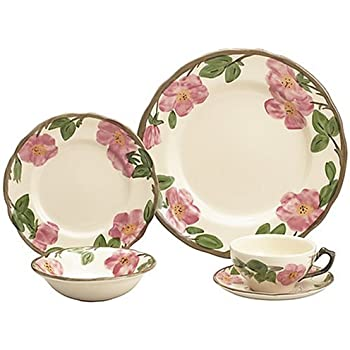 Franciscan Desert Rose 20-Piece Dinnerware Set Service for 4  sc 1 st  Amazon.com & Amazon.com | Franciscan Desert Rose 20-Piece Dinnerware Set Service ...