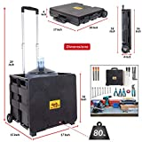 dbest products Quik Cart Collapsible Rolling Crate