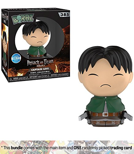 Captain Levi (5000pcs Only): Funko Dorbz Animation x Attack on Titan Vinyl Figure + 1 Anime Themed Trading Card Bundle [#385]