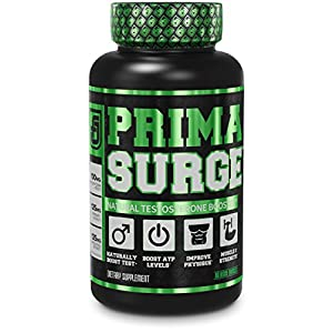 PRIMASURGE Testosterone Booster for Men - Boost Lean Muscle Growth, Strength, Energy & Fat Loss | Natural Test Booster Supplement w/Premium PrimaVie, Ashwagandha & More - 60 Veggie Pills natural male testosterone booster - 51944mPjXYL - natural male testosterone booster