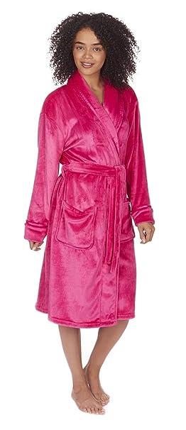 Forever Dreaming Mujer Cuello Forro Polar Albornoz: Amazon.es: Ropa y accesorios