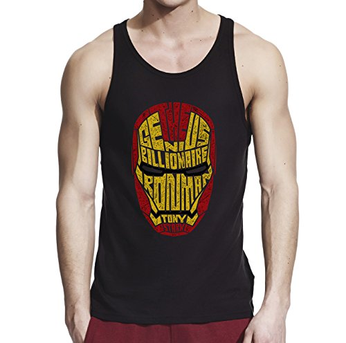 Inspired by Iron Man, Men Black/Navy Blue 100% Softstyle Cotton Tank Top S-2XL, - Ironman Uk Clothing