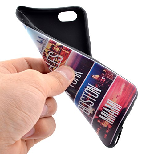Uming® M colorida impresión de patrones de dibujo de la cubierta del caso de TPU suave Case Cover [ Striped Urban Landscape   para IPhone 5S 5 5G SE IPhone5S IPhoneSE ] caja del teléfono móvil Mobile  Striped Urban Landscape