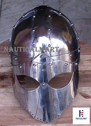 NauticalMart Viking Ocular Helmet Hand Made For Re-enactment Fights by NAUTICALMART