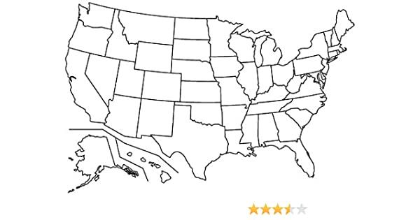 Amazon Com Blank United States Map Glossy Poster Picture Photo