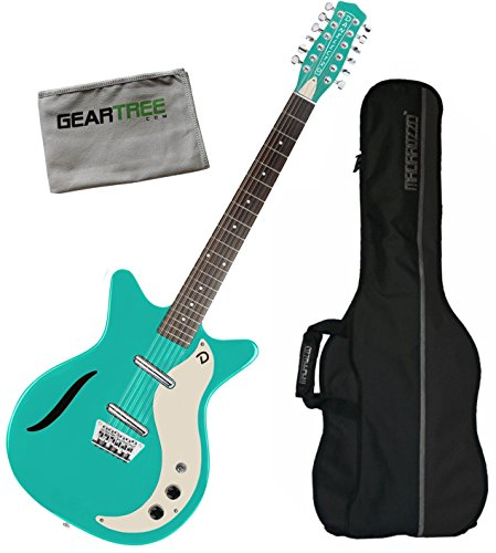 Danelectro 59 Vintage 12 String Electric Guitar Dark Aqua w/Gig Bag and Geartree Cloth